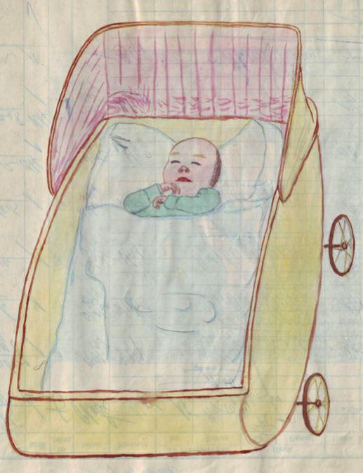 Anton im Kinderwagen